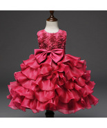 Toddler Infant Party Ball Gown Dress Hot Pink dress for Baby Girl Birthd... - $59.99