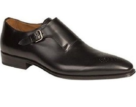 Handmade Mens Black formal monk Shoes, Men Black dress shoes, Men leather shoes - $169.99