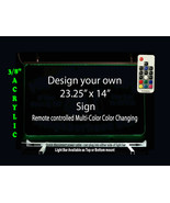 """Personalized LED Sign-Design your own Sign,  23.25"""" x 14"""" Multi-Color Ch... - $220.00"""