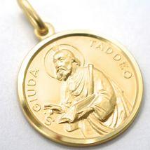 Pendentif Médaille or Jaune 18K, San Judas Thaddäus, Diamètre 2.3 cm, Solide image 3