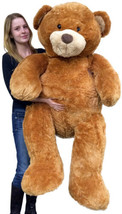 Giant Teddy Bear 5 Feet Tall Superior Quality Big Soft Teddybear Brown 6... - $97.11