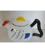 Vintage Kamenstein Whimsical Fish Enamel Tea Kettle - $31.42