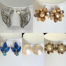 Vintage Lot of 5 Clip On Earrings  - $29.03
