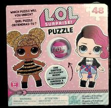 LOL Surprise Puzzle w/ Mini Accessory Ball Poster 48pc Jigsaw Great Kids... - $9.73