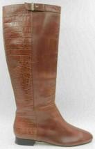 Ann Taylor Women Riding Boots Jorga Size US 8M Brown Alligator Print Lea... - $13.50