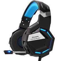 Gaming Headset - Chououkiu Headset Gaming Headphone for Xbox One, PS4, (Blue) - $42.09
