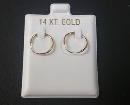14K Oro Amarillo Eterno Pendiente de Aro - $33.69+