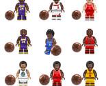 NBA Kobe Bryant Michael Jordan Figure Set 9 pcs - £14.95 GBP