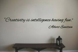 Albert Einstein Creativity Teacher Classroom Quote Vinyl Sticker Decal - $14.99+
