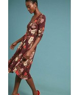 NWT ANTHROPOLOGIE ARCHIVAL FIT-and-FLARE DRESS by MAEVE XXS - $99.74