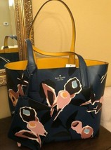 Kate Spade Reversible Tote WKRU5967 Arch Paper Rose Blue Multi NWT - $184.14