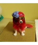 RED HAT Pet Club Collectible Dog Figurine Beagle Society Gift NEW Retire... - $10.95