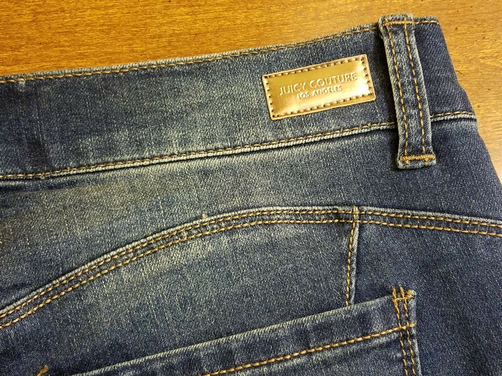 Nwt Juicy Couture Rolle Manschette Denim Röhrenjeans - Dunkle Waschung - Us 4 image 4