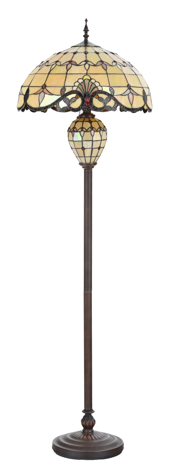 Cloud Mountain Tiffany Style Floor Lamp Victorian Home Décor Stained Glass Lamp