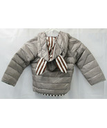 Kids Gray Down Puffer Jacket With Ears On The Hood -GG - $9.99