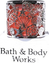Bath & Body Works Sparkling Shells Silver 3 Wick Candle Holder - $20.30