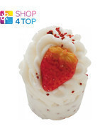 WILD STRAWBERRIES BATH MALLOW BOMB COSMETICS CHAMPAGNE ROSEMARY HANDMADE... - $4.05