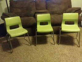 Lot Of 3 Green Mid Century Peabody Children's Chairs - $140.25