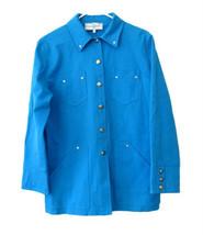 St. John Sport Cerulean Blue Stretchy Jacket Car Coat size S - $78.00