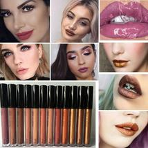 Professional Metal Lipgloss Matte Waterproof Makeup Long Lasting Pigments Gold B - $1.98