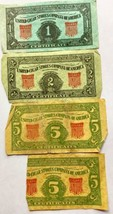 United Cigar Stores Company Of America Certificates 1, 2, and 5 Vintage  - $11.83