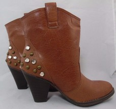"Mia sunrise women's ankle boots brown size 6.5 M 3.5"" heels - $34.13"