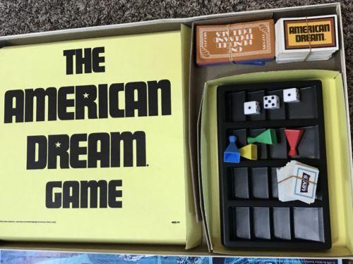 The American Dream Game vintage Complete Milton Bradley 1979 #4922 Board game