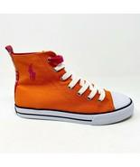 Polo Ralph Lauren Orange Harbour Hi Junior Sneakers 990016 - $34.95