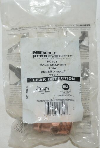 Nibco Press System PC604 Adapter 1 and Quarter Inch Press X Male 9031700PC