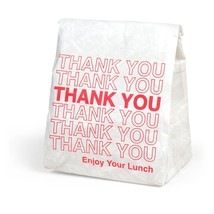 Emergency Meal Transport OUT TO LUNCH Foam Insulated Lunch Tote New - $16.14