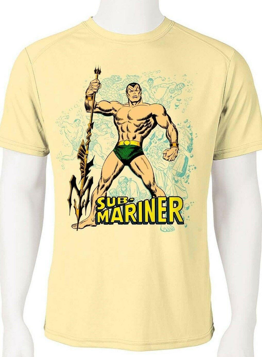 Sub mariner dri fit graphic tshirt moisture wicking superhero comic book spf tee