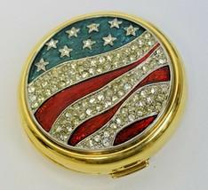 Estee Lauder Jeweled America The Beautiful Flag Stars Lucidity Powder Compact  - $79.99