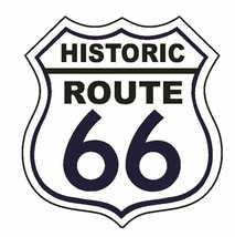 Historic Rt 66 Route 66 Sticker Made In The Usa D2879 - $1.45+