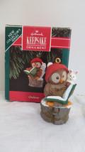 Christmas Hallmark Keepsake 1992 Owliver Ornament #2 - $6.79