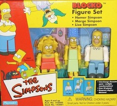 Simpsons Blocko Figure Set NIB Homer Marge Lisa Simpson Playmates - $18.55