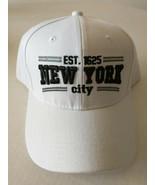 New York City Cap Hat Baseball Est 1625 Adjustable Strap WHITE - $16.99