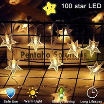 WONICE Star String Lights 100 LED 40 FT Plug in Fairy String Lights Wate... - $16.25