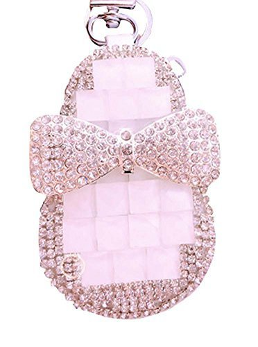Rhinestones Bow Car Key Holder Decorative Key Chain Sets Zero Wallet Pendant