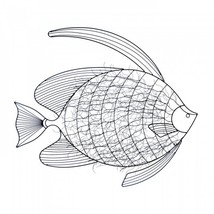 Intricate Fish Wall Decor - $68.71