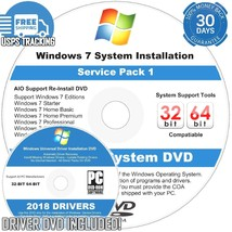 Windows 7 SP1 32 64 bit Reinstall All Install DVD Home Premium Pro Ultim... - $6.61