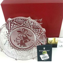 """Christmas Decor PLATE Waterford Crystal """"Songs of Christmas"""" Silver Bells 2003  - $31.75"""