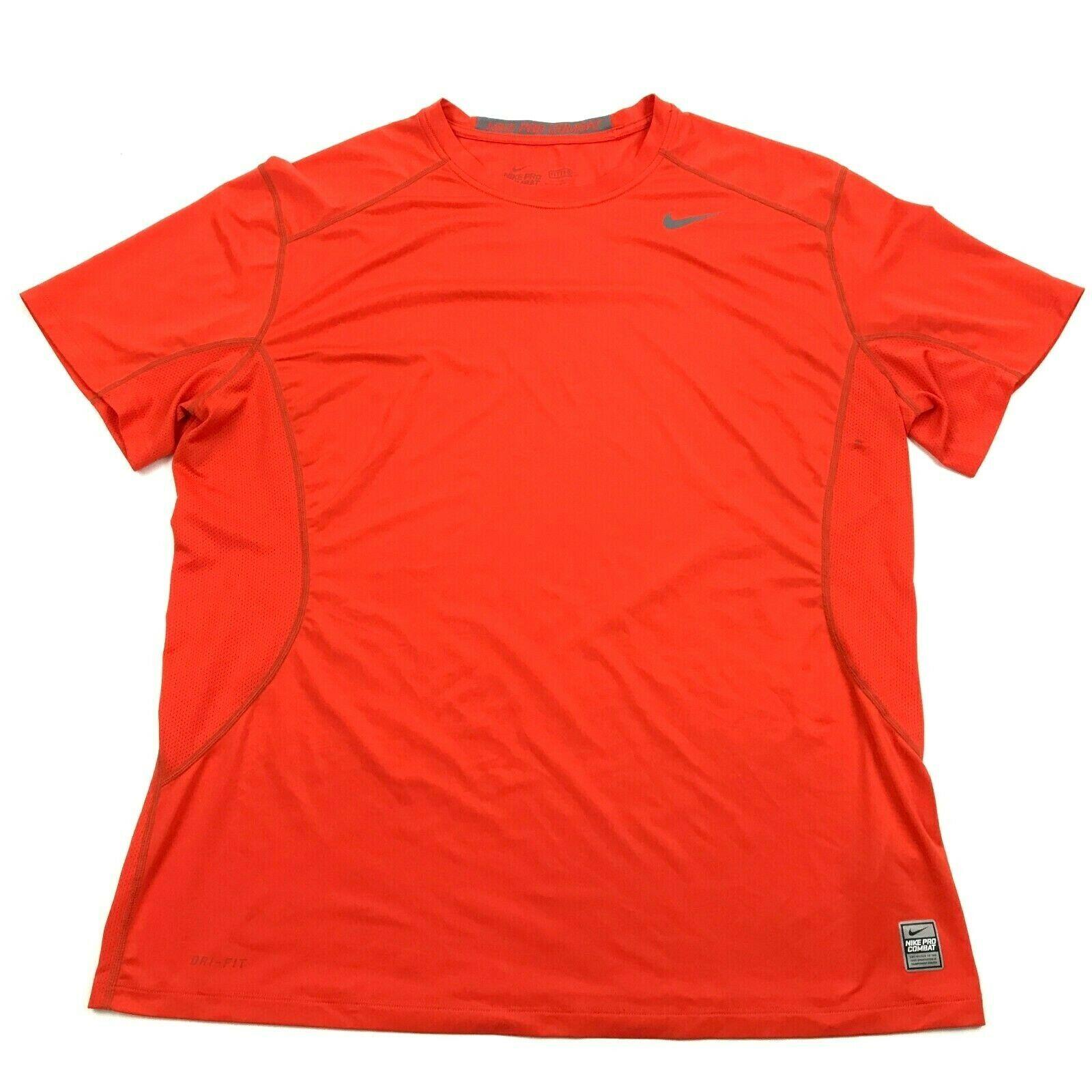 NIKE PRO COMBAT Men's Size 2XL XXL FITTED DRI-FIT Tee Ventilated Short Sleeve 2X - $22.58