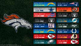 Denver Broncos 2017 Schedule turf Poster 24 X 36 inch  - $18.99