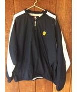 CLEMSON TIGERS MAJESTIC Nylon Jacket 1/4 Zip Pullover Adult Size XL - $29.69