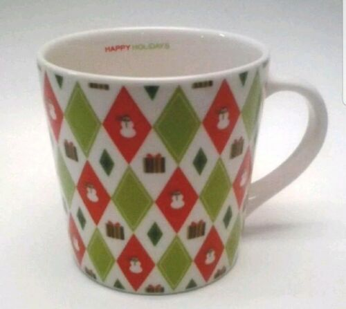 Primary image for Starbucks NEW Barista 16oz Christmas 40s Wrapping Paper Red + Green Diamonds Mug