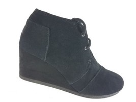 Bobs by Skechers Womens High Notes Behold Black Suede Shoes Size 7.5 - £27.64 GBP