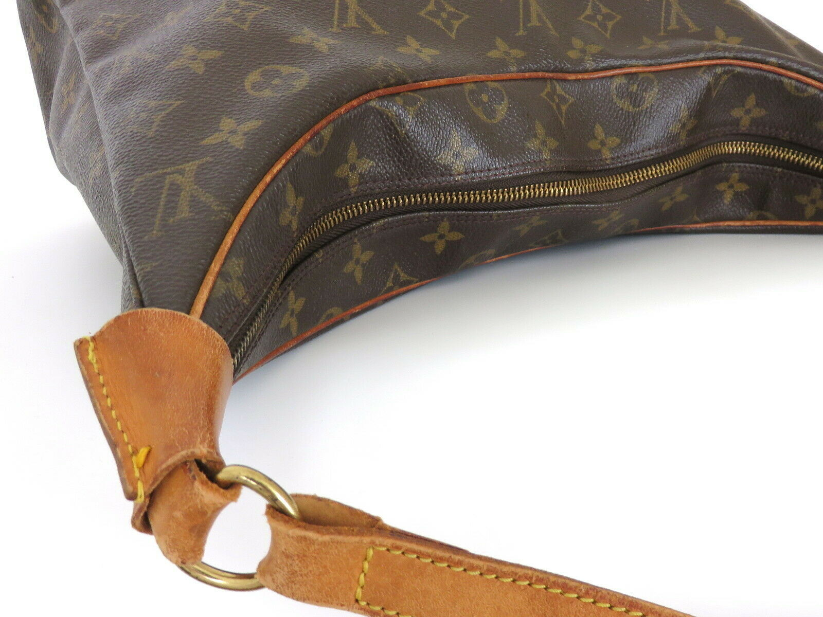 Authentic LOUIS VUITTON Monogram Canvas Leather Boulogne 35 Shoulder Bag image 7