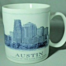 Starbucks Austin Texas Capital City Coffee Mug 18 oz Blue Architect Series 2006 - $24.72