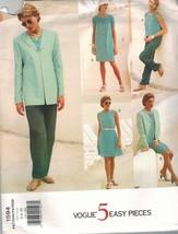 1594 sin Cortar Vogue Patrón de Costura Misses Traje Chaqueta Falda Pant... - $6.23+