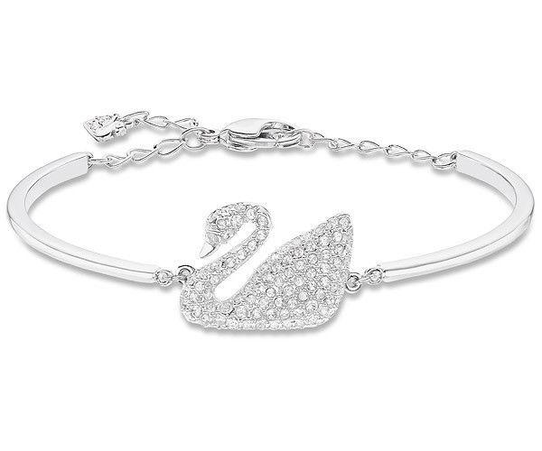 Authentic Swarovski Swan Bangle in Rhodium - $111.45